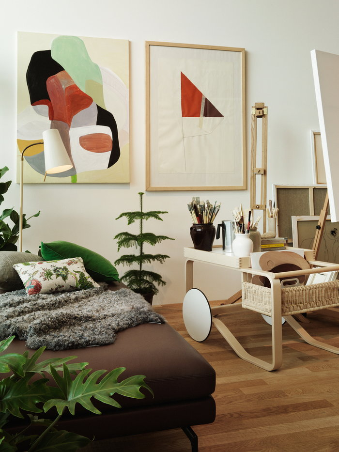 Houseplants Holidays Decorationideas Artek White Birch Aalto trolleys