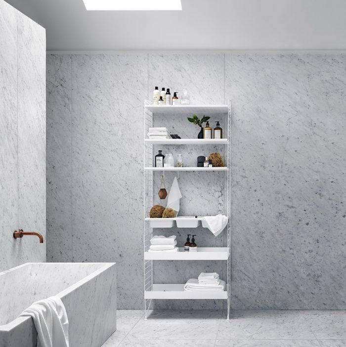 Gestionespazio Bagno String Furniture Bianco Acciaio Plastica Metallo String System