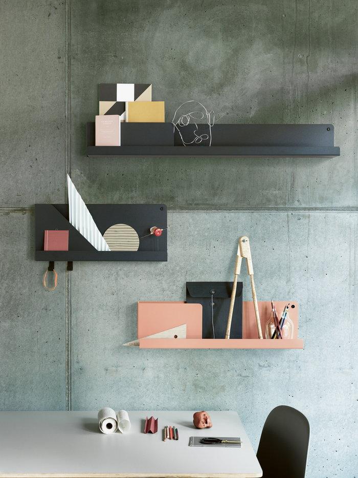Office Storage Muuto Grey Black Brown Marble Steel Groove