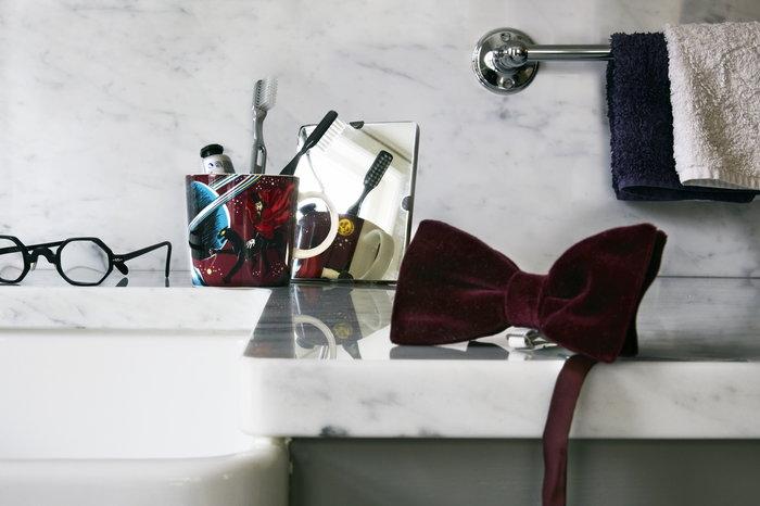 Kattaus Kylpyhuone Arabia Violetti Keramiikka Muumi