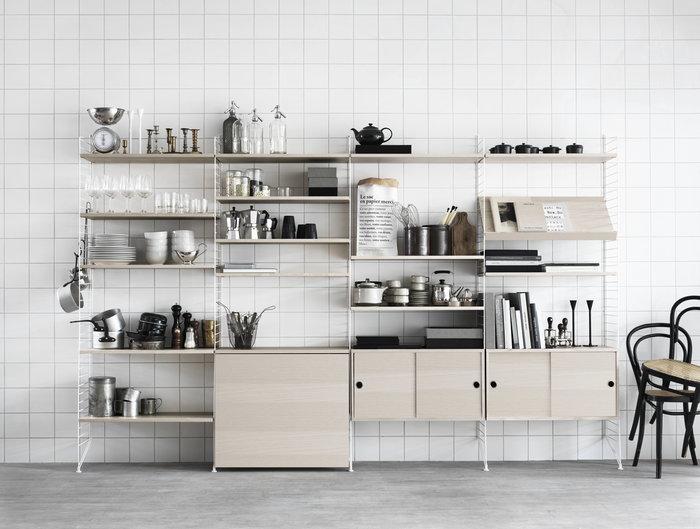 Cucina Gestionespazio String Furniture Naturale Frassino String System