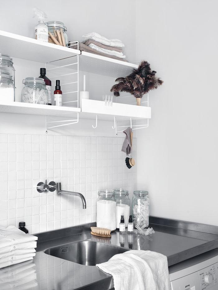 Keittiö String Furniture Valkoinen Metalli String System