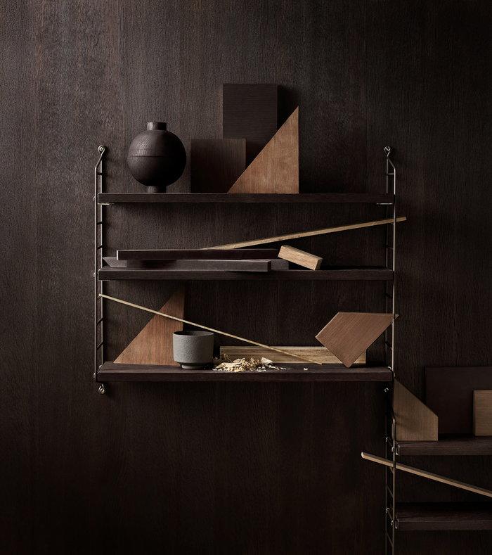 Säilytys String Furniture Ruskea Metalli String Pocket