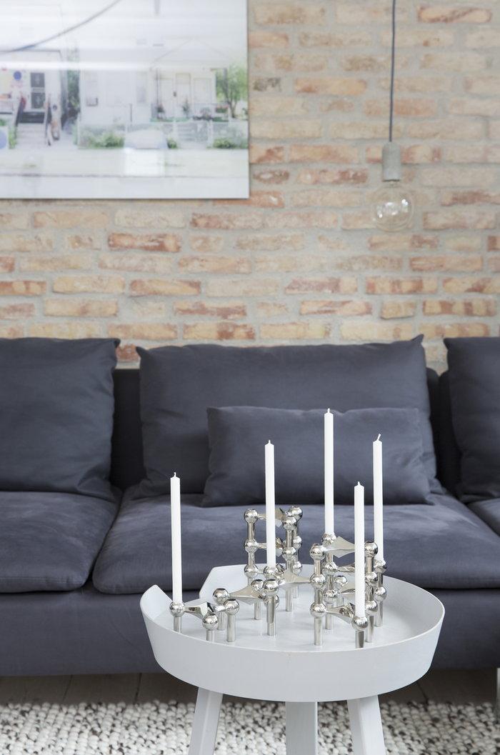 Olohuoneet Joulu Kynttilät Muuto STOFF Copenhagen Harmaa Valkoinen Kromi Saarni Metalli Around