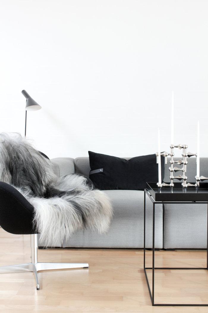 Joulu Kynttilät Hay STOFF Copenhagen Musta Harmaa Kromi Metalli Tarjotinpöydät Mags
