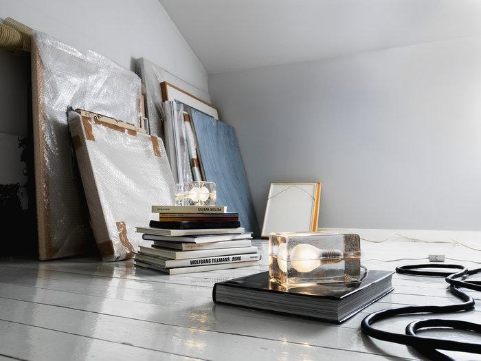 Työpisteet Sisustusyksityiskohta Design House Stockholm Kirkas Lasi Block Lamp