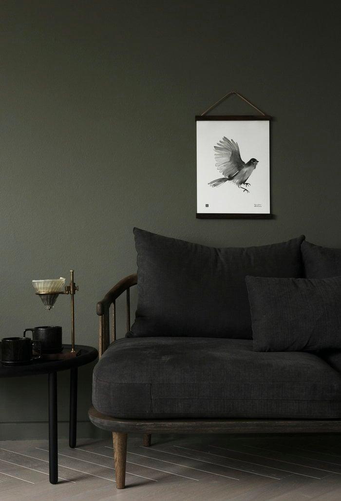 Olohuoneet Julisteet Teemu Järvi Illustrations &Tradition Valkoinen Harmaa Paperi Tammi Julisteet Fly