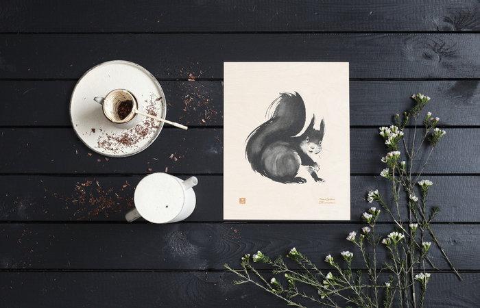 Dettaglioarredamento Poster Teemu Järvi Illustrations Naturale Betulla Poster