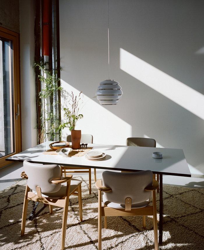 Ruokailutilat Artek Valkoinen Alumiini Aalto valaisimet