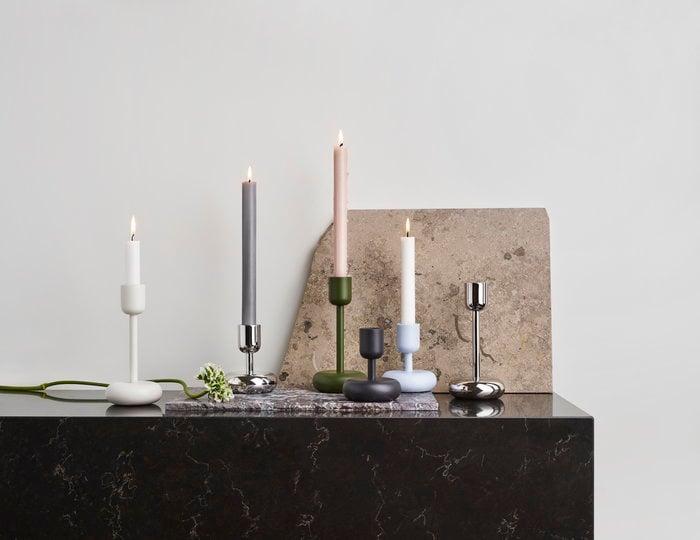 Kynttilät Iittala Metalli Sininen Vihreä Valkoinen Teräs Nappula