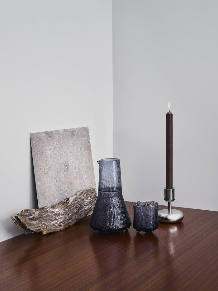 Tablesetting Candles Iittala Metal Blue Steel Glass Ultima Thule