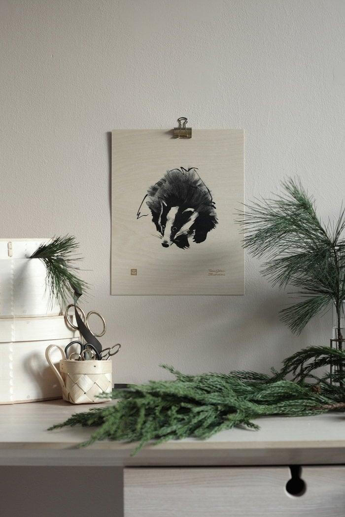Natale Dettaglioarredamento Poster Inverno Teemu Järvi Illustrations Naturale Betulla Poster