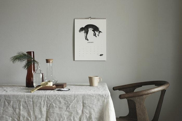 Calendari Inverno Teemu Järvi Illustrations &Tradition Bianco Naturale Carta Rovete In Between