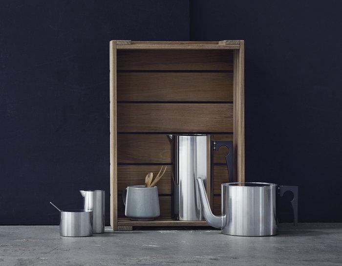 Kattaus Teehetki Talvi Stelton Metalli Ruostumaton teräs Stelton Arne Jacobsen