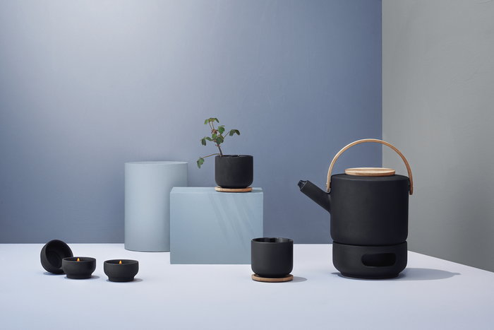 Tablesetting Teamoment Stelton Black Ceramic Theo