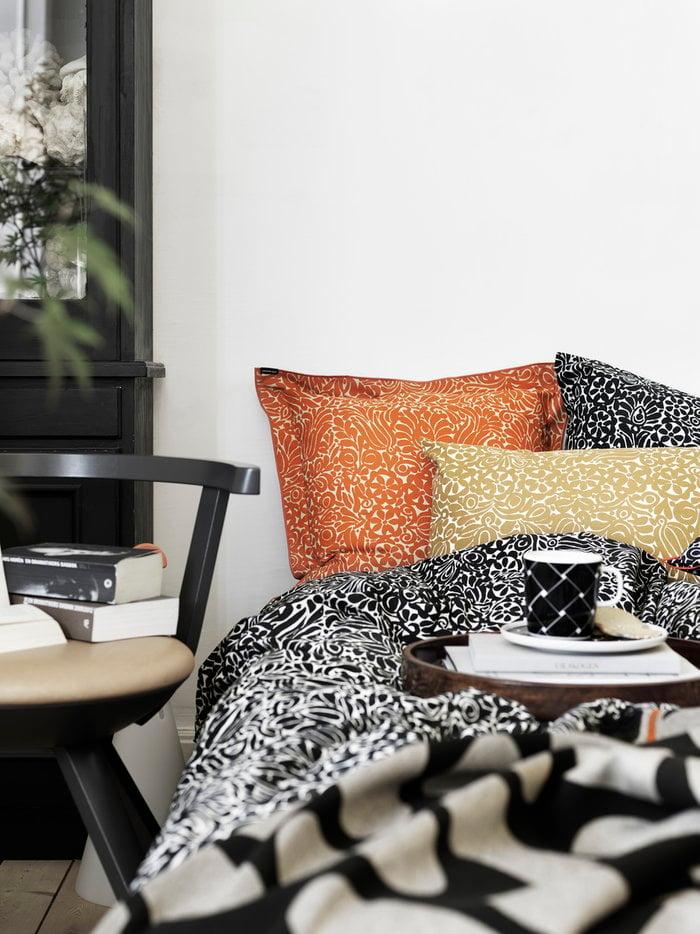 Details Bedroom Artek Marimekko Black Orange White Birch Cotton Ceramic Linen Rival