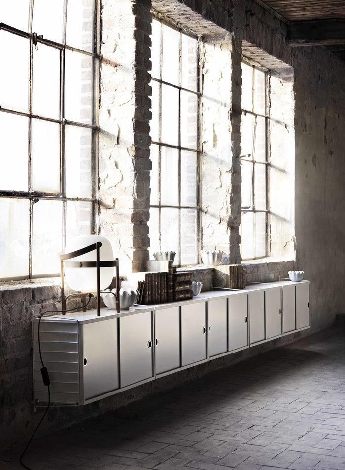 Säilytys String Furniture Santa & Cole Valkoinen Luonnonväri Metalli Puu String System