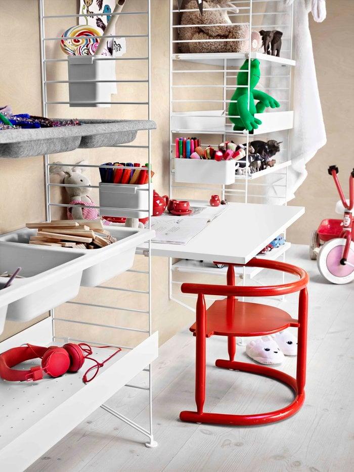 Lastenhuoneet Säilytys String Furniture Valkoinen Teräs Muovi String System