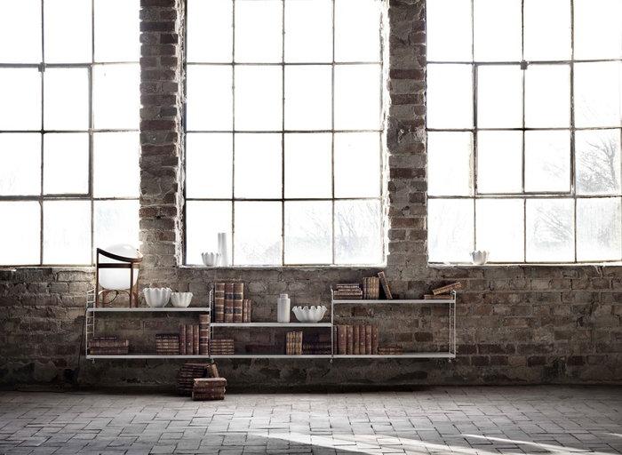 Säilytys String Furniture Santa & Cole Valkoinen Luonnonväri Teräs Metalli Puu String System