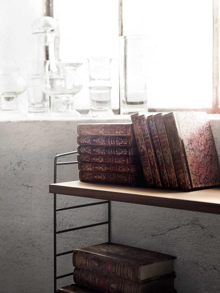 Gestionespazio String Furniture Naturale Nero Noce Acciaio String System