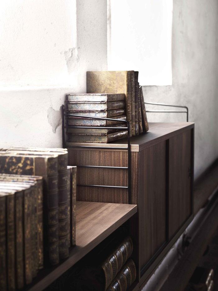 Säilytys String Furniture Luonnonväri Musta Pähkinäpuu Metalli String System