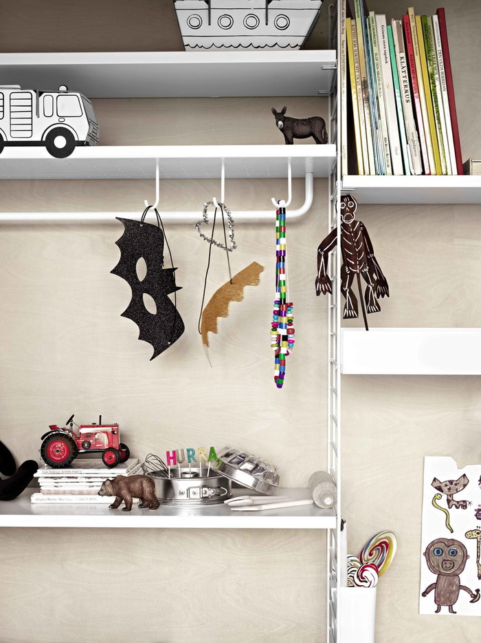 Childrensroom Storage String Furniture White Steel String System