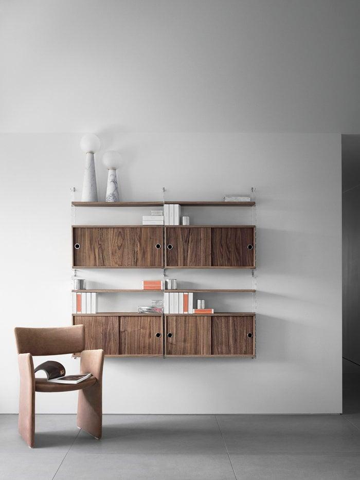 Säilytys String Furniture Luonnonväri Kirkas Pähkinäpuu Muovi String System