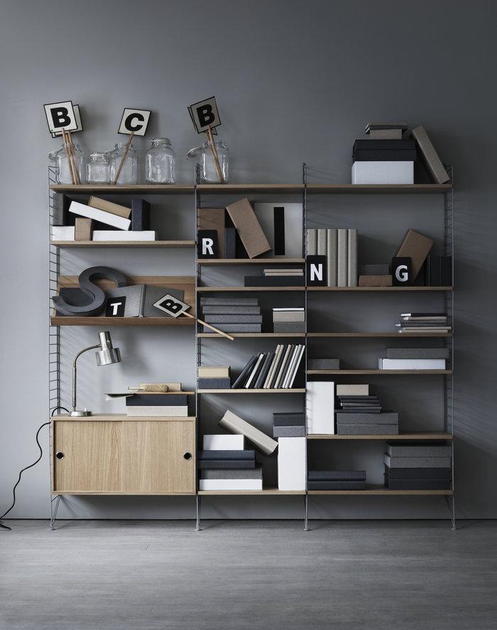 Säilytys String Furniture Luonnonväri Harmaa Tammi Teräs String System