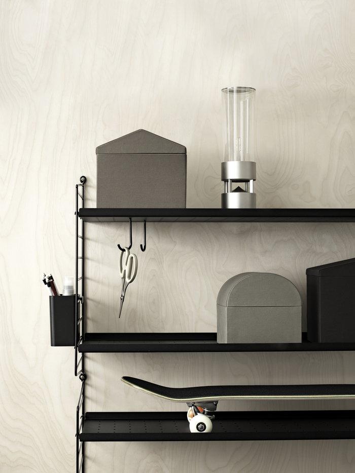 Lastenhuoneet Säilytys String Furniture Musta Muovi Metalli String System