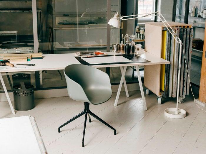 Työpisteet HAY Valkoinen Musta Teräs Tammi Loop About a Chair