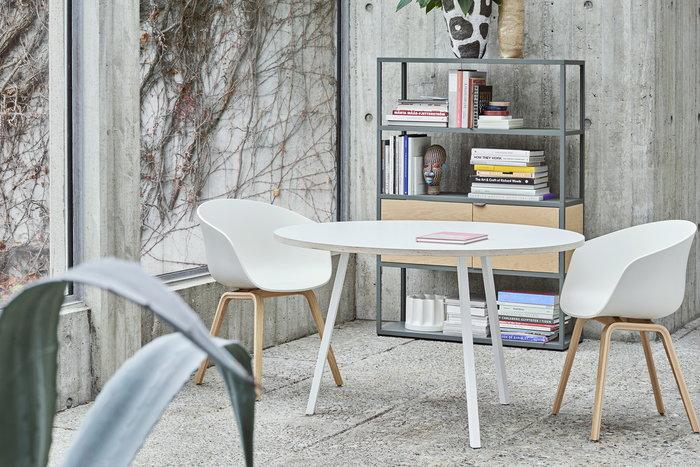 Salotti Gestionespazio Saledapranzo Hay Bianco Metallo Rovete Loop About a Chair