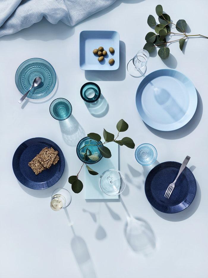 Tavola Iittala Trasparente Blu Metallo Vetro Ceramica Acciaio inox Essence Kastehelmi Teema Citterio 98