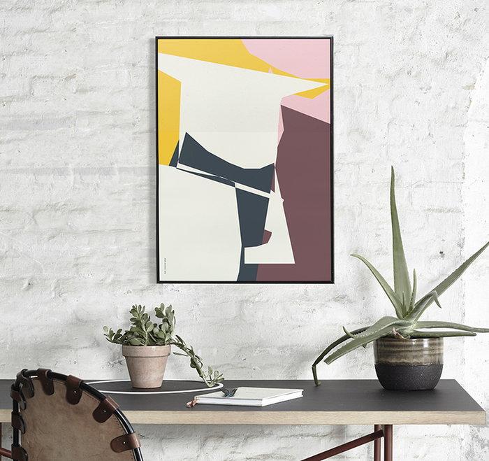Puntilavoro Piante Dettaglioarredamento Paper Collective Multicolore Carta Poster