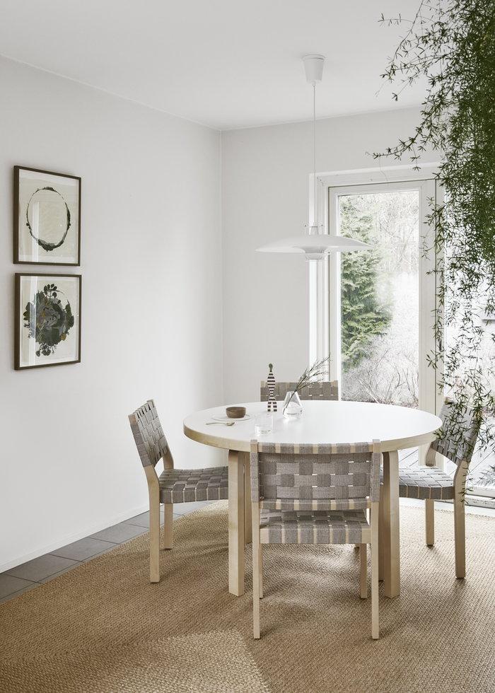 Viherkasvit Ruokailutilat Artek Harmaa Valkoinen Koivu Aalto pöydät