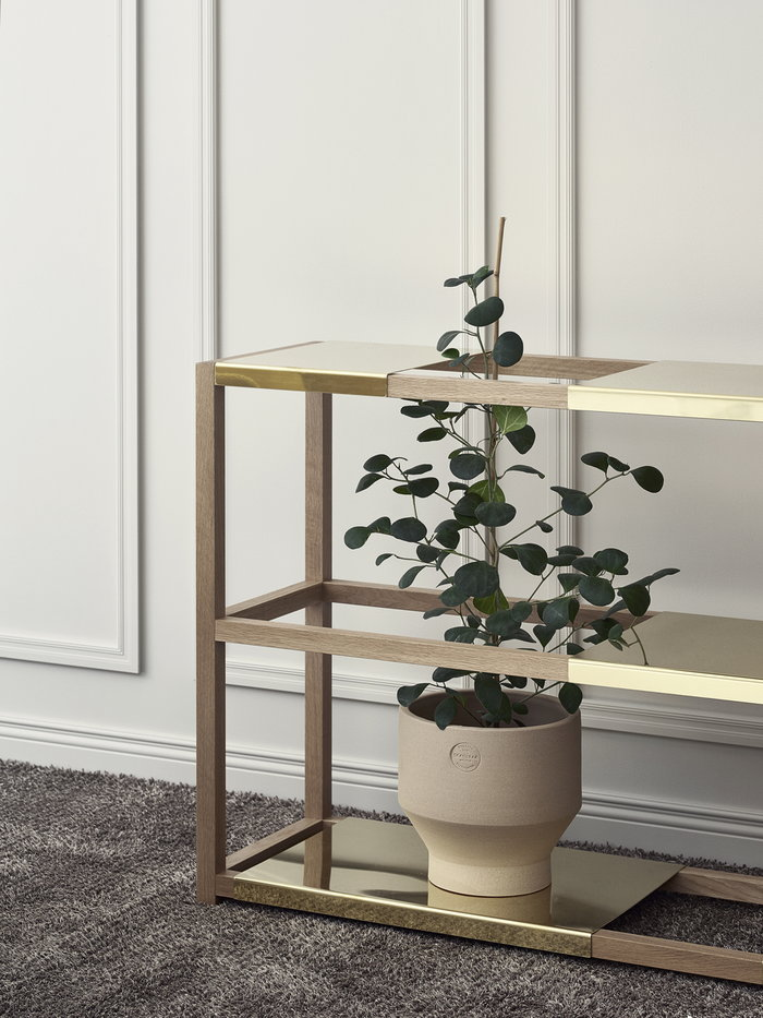 Houseplants Adea Skagerak Nature Brown Brass Beige Oak Ceramic