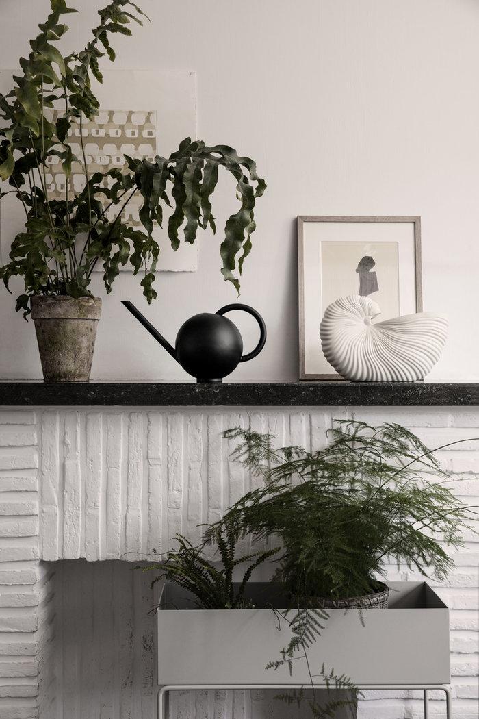 Viherkasvit Ferm Living Musta Luonnonväri Harmaa Metalli Plant Box