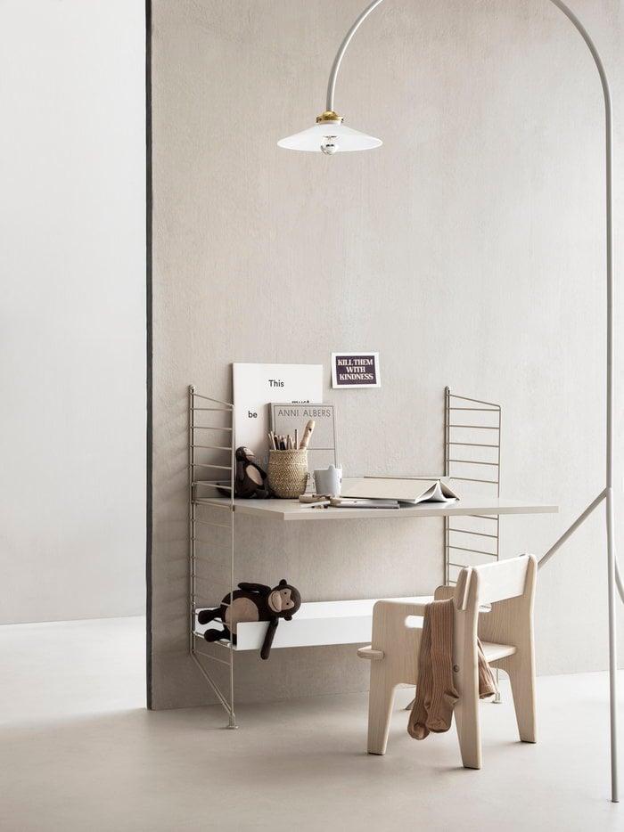 Työpisteet Lastenhuoneet Säilytys String Furniture Valkoinen Beige Metalli String System