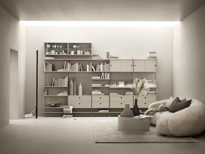 Olohuoneet Säilytys String Furniture Beige String System