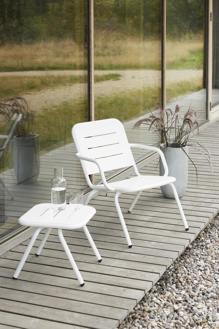 Mobiliperesterno Terrazzo Woud Bianco Alluminio