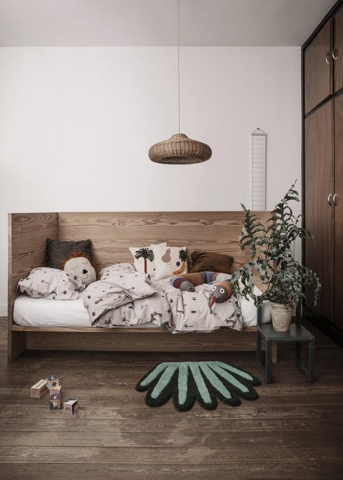 Lastenhuoneet Ferm Living Monivärinen Vihreä Beige Puuvilla Saarni Pellava