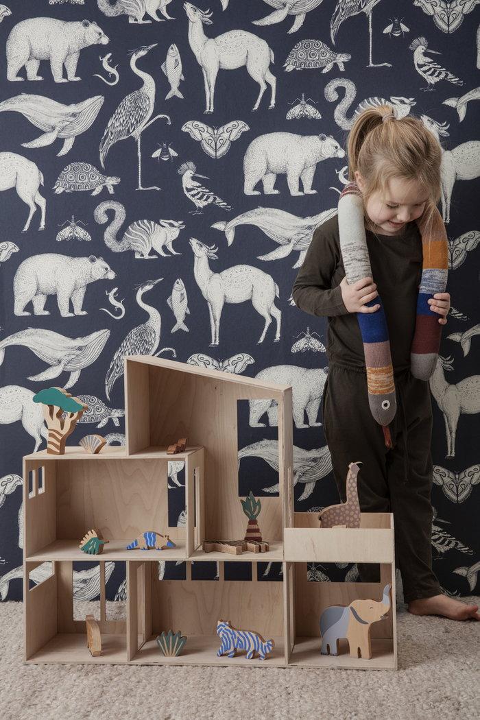 Lastenhuoneet Ferm Living Monivärinen Luonnonväri Puuvilla Puu