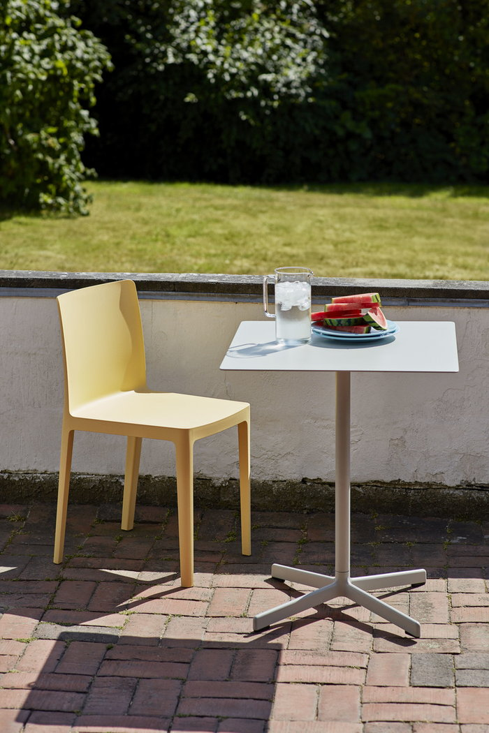 Outdoorfurniture Terrace HAY Grey Clear Yellow Steel Glass Plastic