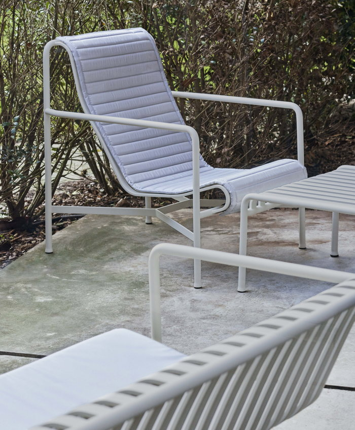 Outdoorfurniture Hay Grey White Cotton Metal