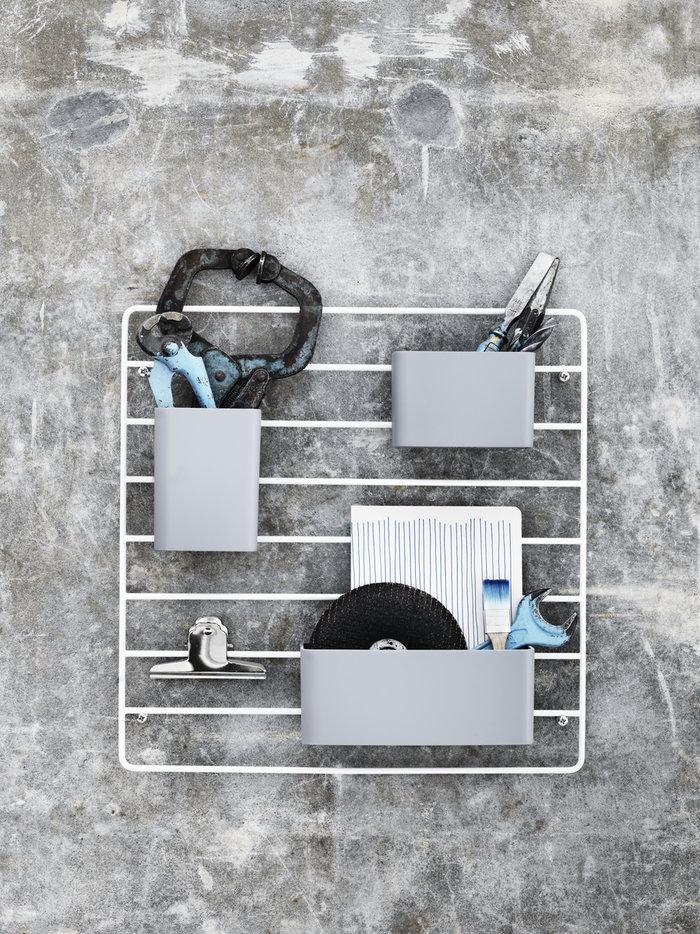 Työpisteet Säilytys String Furniture Harmaa Valkoinen Muovi Metalli String System