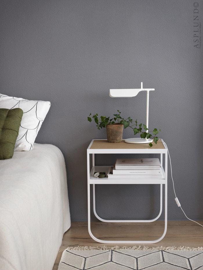 Olohuoneet Säilytys Makuuhuone Asplund Valkoinen Metalli