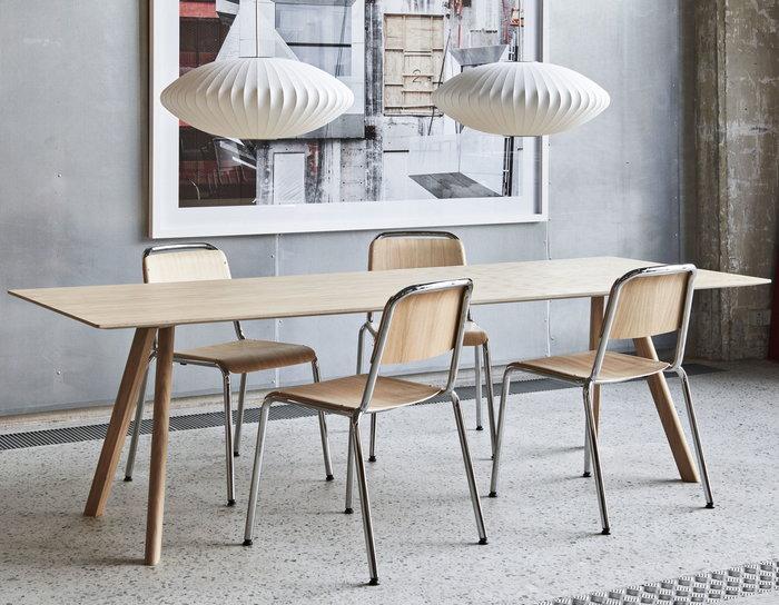 Diningroom HAY Nature White Steel Plastic Oak Copenhague