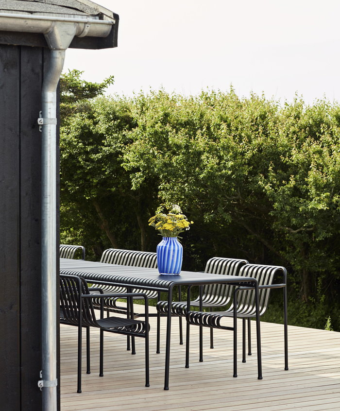 Outdoorfurniture Terrace HAY Blue Grey Glass Metal