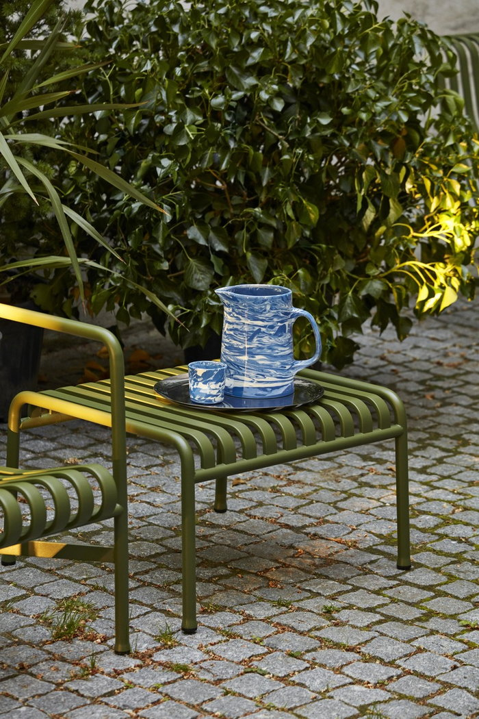 Outdoorfurniture HAY Blue Green Ceramic Metal
