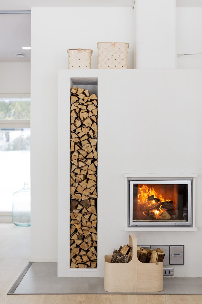 Storage Fireplace Autumn Verso Design Nature Birch Lastu Koppa