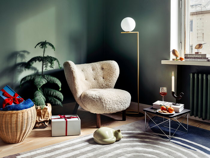 Readingcorner Holidays Vitra Nedre Foss Finarte Ferm Living Flos &Tradition Brown Beige Black Grey Nature Brass Oak Ceramic Cast iron Wool Wood Steel